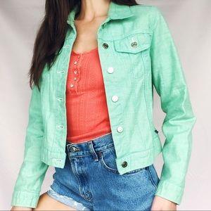 green ralph lauren jean jacket